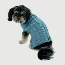 Marley's Cable Dog Sweater - Slate Blue