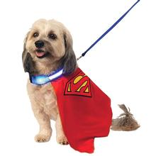Superman Dog Cape with Light Up Collar and Leash