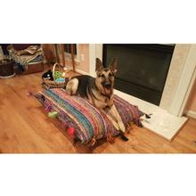 Maximus Natural Silk Dog Bed - Fleurs