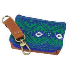 Mayan Pooch Accessory Pouch by Salvage Maria - Blue/Green