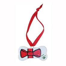 Melia Ceramic Pet Ornament - Red Bow