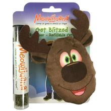 Meowijuana Get Blitzed Refillable Reindeer Cat Toy