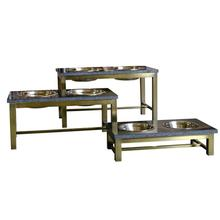 Mercer Dog Feeding Table by Unleashed Life - Brass