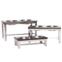 Mercer Dog Feeding Table by Unleashed Life - Nickel