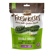 Merrick Fresh Kisses Double Brush Dental Dog Treat - Coconut & Botanical Oils