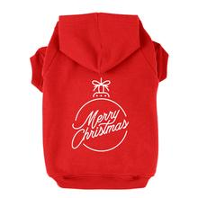 Merry Christmas Ornament Dog Hoodie - Red