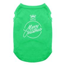 Merry Christmas Ornament Dog Shirt - Green