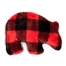 Merry Grizzly Dog Toy by West Paw - Red Check