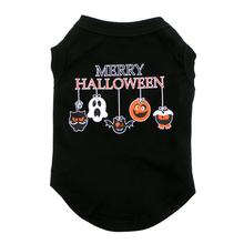 Mirage Merry Halloween Dog and Cat Shirt - Black