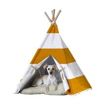 Merry Products Dog and Cat Teepee - Orange Stripes