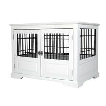 Merry Products Fairview Triple Door Dog Crate - White