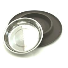 Messy Mutts Cat Single Bowl Silicone Feeder - Gray