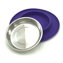 Messy Mutts Cat Single Bowl Silicone Feeder - Purple