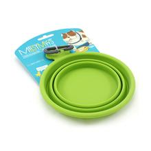 Messy Mutts Collapsible Silicone Dog Bowl - Green