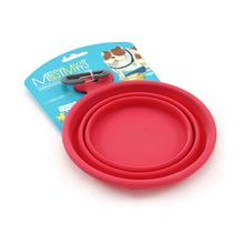 Messy Mutts Collapsible Silicone Dog Bowl - Red