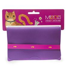 Messy Mutts Silicone Cat Litter Mat - Purple