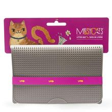Messy Mutts Silicone Cat Litter Mat - Gray