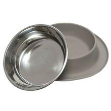 Messy Mutts Single Bowl Silicone Dog Feeder - Gray
