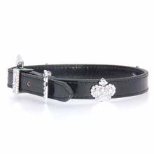 Foxy Metallic Royal Crown Dog Collar - Black