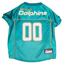 Miami Dolphins Officially Licensed Dog Jersey - Aqua