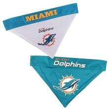 Miami Dolphins Reversible Dog Bandana Collar Slider