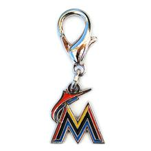 Miami Marlins Logo Dog Collar Charm