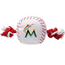 Miami Marlins Nylon Plush Baseball Rope Dog Toy