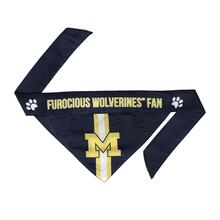 Michigan Wolverines Tie On Dog Bandana