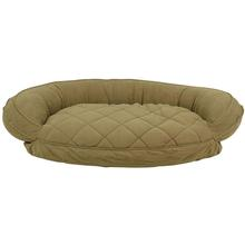 Microfiber Quilted Bolster Dog Bed with Moisture Barrier Protection - Sage