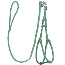 Microfiber Round Step-In Dog Harness With Leash - Hunter Green