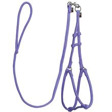 Microfiber Round Step-In Dog Harness With Leash - Purple