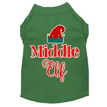 Middle Elf Christmas Dog T-Shirt - Green