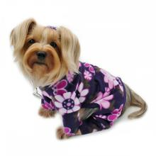 Midnight Garden Turtleneck Fleece Dog Pajamas by Klippo