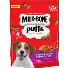 Milk-Bone Puffs Bacon & Peanut Butter Flavor Dog Treats