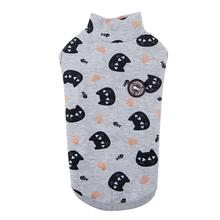 Milo Turtleneck Cat Shirt By Catspia - Grey