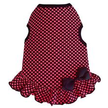 Mini Dot Dog Dress by I See Spot - Hot Pink