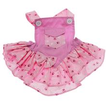 Mini Pocket Paw Dog Dress - Pink