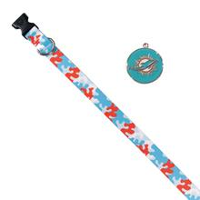 Miami Dolphins Team Camo Dog Collar and Tag by Yellow Dog