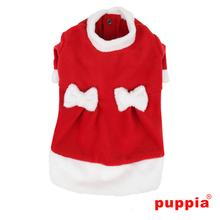 Miss Claus Dog Dress Coat by Puppia - Red