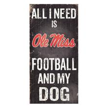 Mississippi Rebels Football and My Dog Wood Sign