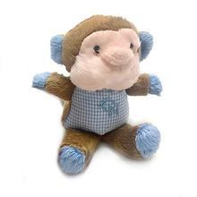 Monkey Safari Baby Pipsqueak Dog Toy By Oscar Newman - Blue