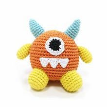 Monster Crochet Dog Toy by Dogo - Orange