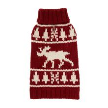 fabdog® Moose Turtleneck Dog Sweater - Burgundy