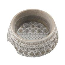 Moroccan Wood Pet Bowl by TarHong - Taupe