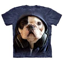 DJ Manny the Frenchie - Human T-Shirt by The Mountain