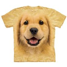 Golden Retriever Puppy Face - Human T-Shirt by The Mountain