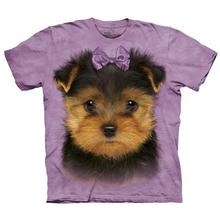 Yorkshire Terrier Puppy Face - Human T-Shirt by The Mountain