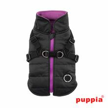 Mountaineer Harness Dog Coat by Puppia - Black