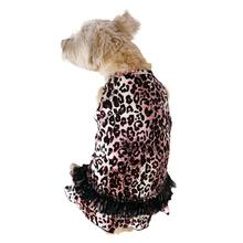 Movie Star Tutu Velvet Dog Dress - Pink Leopard