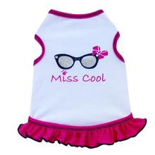 Miss Cool Dog Tank Dress - White